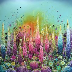 Leanne Christie Flower Art Rainbows & Glitter