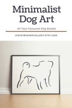 Love minimalist décor…and your dog? This minimalist dog breed art print will look great on your wall. It comes in a wide range of breeds and sizes. Visit our shop to see the collection. Best Dog Gifts, Dog Mom Gifts, Dog Lover Gifts, Dog Lovers, Black And White Pug, Puppy Starter Kit, Dog Grooming Tools, Puppy Supplies, Pet Loss Gifts