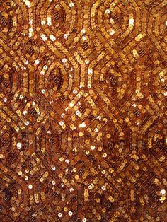 bronze vintage sequin dress (detail), photo by Holly Hilgenberg Color Cobre, Copper Color, Copper Penny, Bild Gold, Lesage, Shades Of Gold, Gold Sequins, Mellow Yellow, Beaded Embroidery
