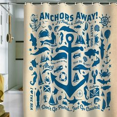 Amazon DENY Designs Anderson Design Group Anchors Away Shower Curtain 69 By