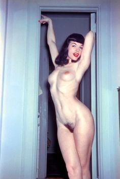 Bettie Page - framed by doorway