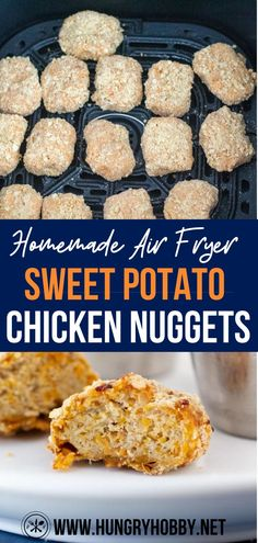 These homemade air fryer chicken nuggets are healthy enough for toddlers and delicious enough for you to eat alongside with them! #chickennuggets #chickennuggetsairfryer #chickennuggetsrecipe #chickennuggetsinairfyer #chickennuggetsforkids #homemadechickennuggets #homemadechickennuggetsairfryer #homemadechickennuggetsforkids