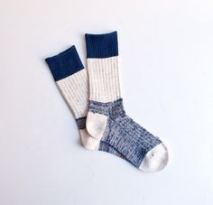 wool-linen work room socks, by fog linen (via omoi zakka shop)