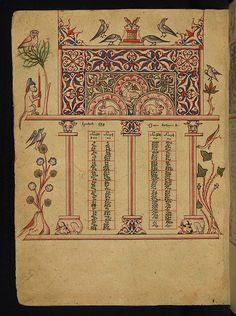Armenian Illuminated Manuscript, Amida Gospels, Walters Art Museum, Ms W.541, fol. 6v