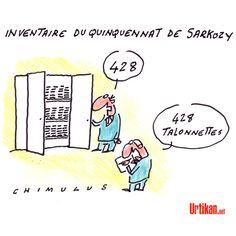 Bilan Sarkozy : inventaire ou débat selon l'UMP ? - Dessin du jour - Urtikan.net