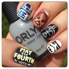 STAR WARS by elaineqxoxo #nail #nails #nailart