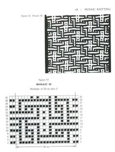 Mosaic Knitting Barbara G. Walker (Lenivii gakkard) Mosaic Knitting Barbara G. Slip Stitch Knitting, Knitting Charts, Knitting Stitches, Knitting Patterns Free, Free Pattern, Crochet Patterns, Beginner Knitting, Mosaic Knitting, Intarsia Knitting
