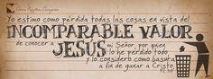 Incomparable el valor de Jesus!
