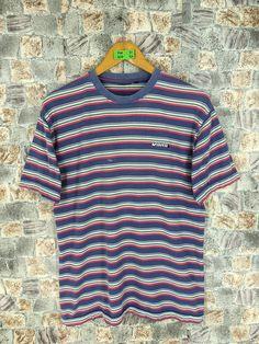 2b61c47123 Vintage VANS USA Stripes Tshirt Medium 90 s Rockabilly Striped Border  Skaters Old School Grunge Og Streetwear Unisex Striped Tee Tshirt M