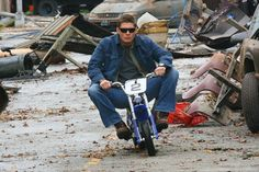 Jensen Ackles..... how can he always look cool if he is always doing something completely and totally ridiculous?