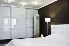 3 panel equal split bedroom wardrobe doors in which with silver frame
