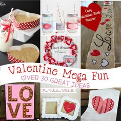 Valentine's Day Mega Fun with over 30 great Valentine's Day Ideas from recipes to crafts to everything in between!!
