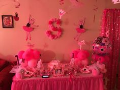 Cake table for a ballerina 1st bday party (Made by me ) -Jessica