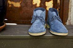 Clarks Original Desert Boots in Slate Blue