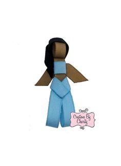Jasmine Princess Hair Bow Clip Ribbon by creationsbycharity