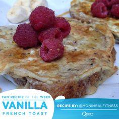 This Vanilla French Toast will make you fall in love with breakfast all over again! Try making this healthy and tasty morning dish!