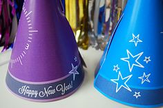 Free printable 2015 New Year's Eve Party Hats...I will have to make my own since I don't have a printer but I love these!