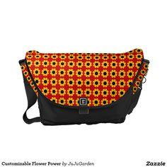 Customizable Flower Power Messenger Bag