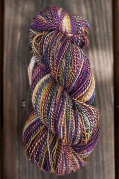Crazy handspun! I looked at these two Inglenook Fibers batts and thought they surely went together, so...
