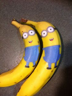 Minion bananas - any kid would love getting this in their lunchbox!