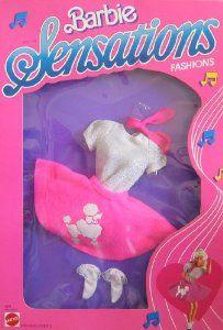 Barbie Sensations Fashions - 1950's Style Pink Poodle Skirt & More (1987 Mattel Hawthorne)