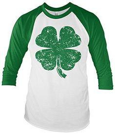 d0b3ef88 Shamrock Tee. Raglan TeeSt Patrick Day ShirtsChristmas SweatersSpun CottonFour  Leaf CloverUnisexGreenMens ...