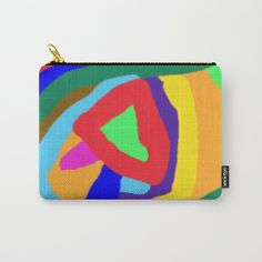 Color blossom Carry-All Pouch by bintadarboe Pattern Art, Pattern Design, Cotton Tote Bags, Flower Prints, Zipper Pouch, Colorful Flowers, Pouches, Carry On, Color Pop