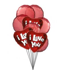 Send this red color balloons as the symbol of and make them your loved ones by saying happy Mylar & 6 Latex Balloons deliver in this arrangement. Order Balloons, Send Balloons, Balloons Online, Valentines Balloons, Mylar Balloons, Latex Balloons, Birthday Balloons, Valentines Day, Balloon Bouquet Delivery