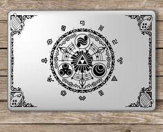 Legend of Zelda Gate of Time - Apple Macbook Laptop Vinyl Sticker Decal in Computers/Tablets & Networking, Laptop & Desktop Accessories, Case Mods, Stickers & Decals   eBay