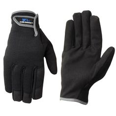 Wells Lamont Synthetic Leather Work Gloves for Men - Medium