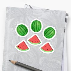 Sweet Watermelon looking pattern . It gives a nice summer vibe ! • Millions of unique designs by independent artists. Find your thing. Sweet Watermelon, Cool Stickers, Avocado, Finding Yourself, Japanese, Artists, Nice, Illustration, Summer