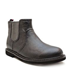 Take a look at this Black & Gray Danny Chelsea Ankle Boot on zulily today!