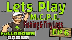Lets Play MCPE | Survival Minecraft - Episode 6 (FISHING & TINY LEGS!!)