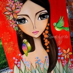 Images about tag on instagrauetushrjsgdjehefdtsgehgejrm Painting People, Painting For Kids, Colorful Drawings, Art Drawings, Frida Art, Mexican Art, Art Store, Learn To Paint, Whimsical Art
