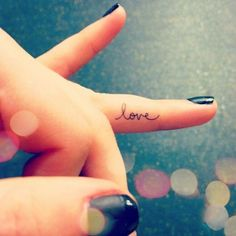 Fashionable Word Tattoo Finger Pretty-Finger-Tattoo