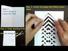 Kirigami tutorial : How to make kirigami : Easy and simple Kirigami. Learn to make the popular paper craft, kirigami step by step. Kirigami Patterns, Kirigami Templates, Origami And Kirigami, Fabric Origami, Origami Paper, Box Templates, Paper Paper, Paper Toys, Kirigami Tutorial