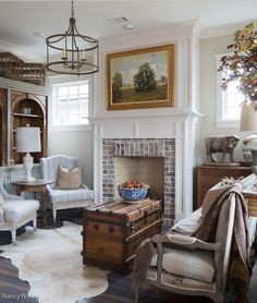 farmhouse country rooms | Dining Room Makeover to Sitting Room - Town & Country Living