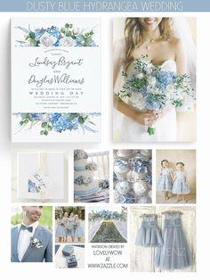 Dusty blue hydrangea, eucalyptus greenery and white flowers modern summer garden wedding ideas. Blue Hydrangea Wedding, Lilac Wedding, Wedding Day, Garden Wedding, Wedding Summer, Camp Wedding, Wedding Vintage, Wedding White, Rustic Wedding