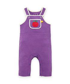 Little Bird by Jools Purple Dungarees - newborn - Mothercare