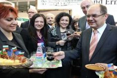 Rose water - Rose Drops in Grune wohe Berlin. Minister of agriculture is Drinking our favorite product