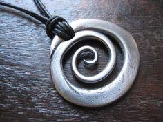 Silver Spiral Pendant.