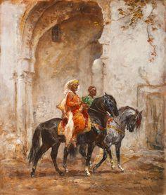 """Henri Emilien Rousseau, """"Cavaliers devant la porte de la Medina"""""""