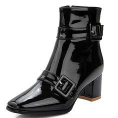 Ženska večer cipele čizme proljeće / jesen / zima pete / bootie / kvadrat toe ured karijera / osoba / povremeni zrnasto peta kopča iz 5199218 2017 . – €32.58
