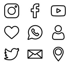 50 free vector icons of Social Network designed by Freepik Easy Doodles Drawings, Cute Easy Drawings, Mini Drawings, Small Drawings, Cute Little Drawings, Simple Doodles, Art Drawings Sketches Simple, Cute Doodles, Kawaii Doodles
