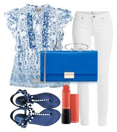 """""""Untitled #412"""" by ngkhhuynstyle ❤ liked on Polyvore featuring Paige Denim, Sea, New York, Chanel, Furla, MAC Cosmetics and Bling Jewelry"""