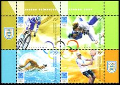 Four stamps from Argentina |Athens 2004, Olympic Games