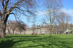 Charlotte Square is a garden square in Edinburgh, Scotland, part of the New Town, designated a UNESCO World Heritage Site. The square is located at the west end of George Street and was intended to mirror St. Andrew Square in the east. The gardens are private and not publicly accessible.