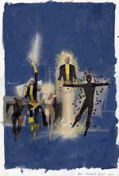 New Mutants   art by Bill Sienkiewicz