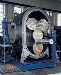 (Aerzen Machines GQ GR positive displacement process gas blower)