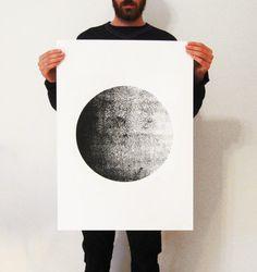 "Big Screen-Print  Poster ( 50 x 70 cm) 19.7"" x 27.6"" inches. $34.00, via Etsy."
